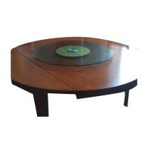 吉展 圆桌 1.6*1.6*0.76M 简易型带玻璃转盘1.09M