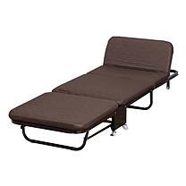 欧润哲 折叠床 180.8*66*26 (咖啡色) 加厚海绵,多档靠背调节三折单人办公室午睡床躺椅陪护床