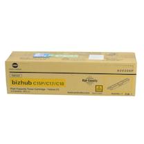 柯尼卡美能达 KONICA MINOLTA 高容量碳粉盒 A0V306P 2.5K (黄色) 适用于bizhub C15P/C17/C18
