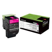 利盟 LEXMARK 碳粉盒 70C80M0 (红色)