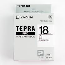 锦宫 KING JIM 标签色带 SS18K 18mm (白底/黑字) 5卷起订