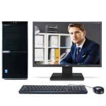 宏碁 acer 台式电脑套机 D430 21.5英寸 G4400 4G 500G 集显 DVD Win10Pro 3年上门