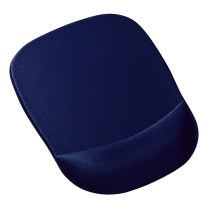 山业 SANWA 慢回弹记忆海绵鼠标垫 MPD-MU1NBL (深蓝色)