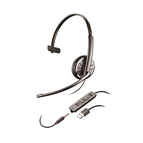 缤特力 plantronics 有线降噪电脑单耳耳机带麦克风 C315.1  USB/3.5mm连手机PC 语音视频会议 统一通信 单耳耳麦