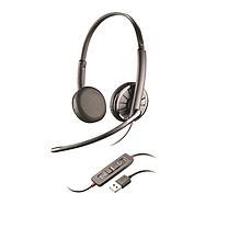 缤特力 plantronics 有线降噪电脑双耳耳机带麦克风 C325.1  USB+3.5mm 手机电脑音乐 语音电话会议 降噪 统一通信通用