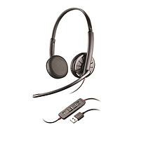 缤特力 plantronics 有线降噪电脑双耳耳机带麦克风 C325.1-M  USB+3.5mm 手机电脑音乐 语音电话会议 降噪 统一通信通用,Lync版本 降噪宽频耳麦