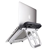 电脑支架 DA-001 底座读书架懒人支架桌面架 散热托架 (灰白色) (DC)