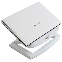 安尚 actto 散热支架 NBS-09W 彩盒 白色小旋风笔记本电脑散热架