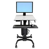 爱格升 Ergotron 单显示器LD型坐站两用工作站 WorkFit-C24-215-085