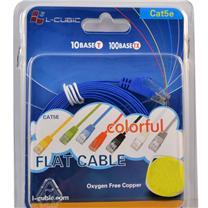 酷比客 L-CUBIC 超五类百兆网线 扁线 LCLN5ESBBU-5M 5米 (蓝色)