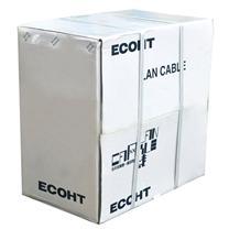酷比客 L-CUBIC 超五类经济型纯铜成箱网线 LCLN5EGY-305M 290米 (灰色)