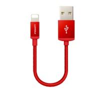 品胜 PISEN 双面数据线 lightning 1米 (中国红) 尼龙线 苹果接口