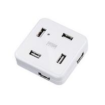 山业 SANWA 多功能集线器 USB-HUB250W 七口 (白色)