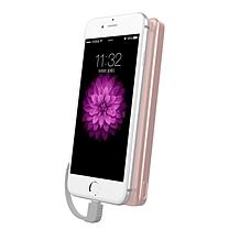 飞利浦 PHILIPS 聚合物充电宝 DLP6100V 10000毫安 (粉色) 超薄 自带苹果线
