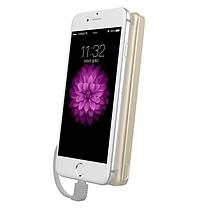 飞利浦 PHILIPS 聚合物充电宝 DLP6100V 10000毫安 (金色) 超薄 自带苹果线