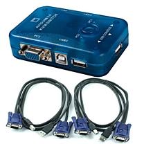 迈拓维矩 KVM切换器 MT-272UK 2口自动USB 配线