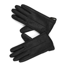 MASCOMMA 全触屏羊皮手套 CA00501/B 女款M (黑色)