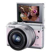 佳能 Canon 微单 EOS M100 15-45镜头粉色套机 2420万像素 触控翻转LCD 全像素双核对焦