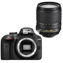 尼康 Nikon 单反套机 D3400 (AF-S DX 尼克尔 18-105mm f/3.5-5.6G VR) (包 32G卡)