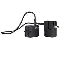GoPro 双电池充电器适用HERO4(带一块原装电池)