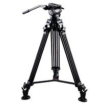 意美捷 (E-IMAGE)摄像机三脚架 专业摄像机液压云台 多功能摄影摄像三脚架云台套装 G30