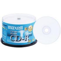 麦克赛尔 maxell 光盘 50片/筒 CD-R 可打印 48X 700M