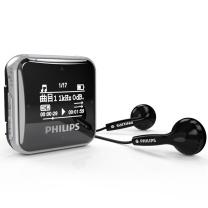 飞利浦 PHILIPS MP3播放器 SA2208 8G (黑色) 发烧无损迷你运动跑步MP3播放器 FM收音录音
