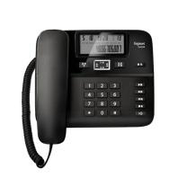 集怡嘉 电话机 DA260 电话机座机黑名单功能/来电显示/双接口/办公电话座机家用有绳固定电话免电池 (黑色)