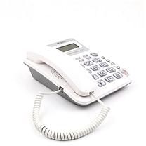 晨光 M&G 标准经典摇头水晶按键电话机 AEQ96755 (白色)