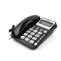晨光 M&G 标准经典摇头水晶按键电话机 AEQ96755 (黑色)