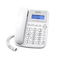晨光 M&G 普惠型经典水晶按键电话机 AEQ96761 (白色)