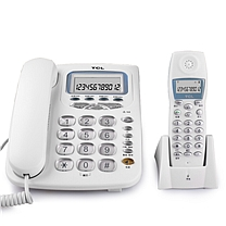 TCL 数字无绳电话机 D56 (黑色) 一拖一