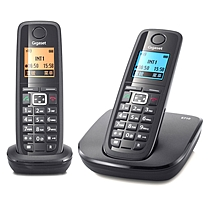 集怡嘉 数字无绳电话机 E710 (钢琴黑) 一拖一子母机