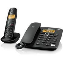 集怡嘉 数字无绳电话机 A280 (黑色) 一拖一子母机