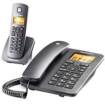 摩托罗拉 MOTOROLA 无绳电话机 C4200C 一拖一 (黑色)