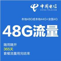 上海电信 4G上网资费卡 年48G (本地44G+全国4G)