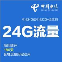 上海电信 4G上网资费卡 半年24G (本地22G+全国2G)
