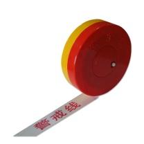 安赛瑞 尼龙布材质盒装警示隔离带(警戒线) 11115 5cm×100m (黄白)