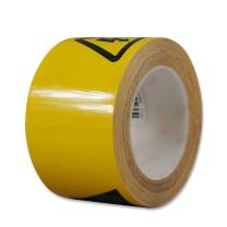 安赛瑞 PET基材警示标识胶带(高压危险) 11980 75mm×22m (黄黑)