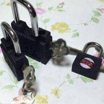 永固 横开铁挂锁 25MM  (10个起订)