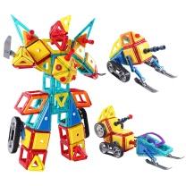铭塔(MING TA)磁力片 百变提拉建构片儿童积木 工程雪橇系列 200件套