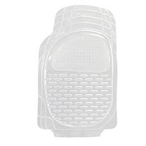爱侬 塑料透明通用脚垫 CM81031 前座两片76X50cm 后座两片53X55cm 过桥片48X21cm (透明) 5片装 购买前需匹配车型