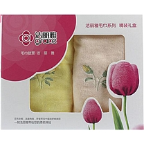 洁丽雅 grace 面巾两件套 6223  40盒/箱 (礼盒)