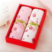 梦特娇 MONTAGUT 和风2条装纱布毛巾礼盒 2128F338