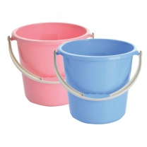 国产 无盖塑料水桶 23.5*20.5cm (混色) (新老包装交替以实物为准)