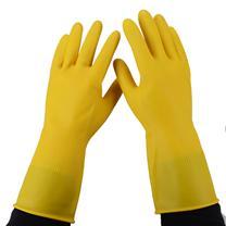 南洋 牛筋乳胶手套 大号 (黄色) (加厚型)