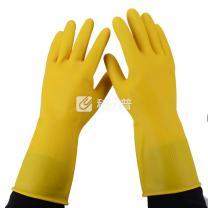 南洋 牛筋乳胶手套 大号 (黄色) 200双/箱 (加厚型)