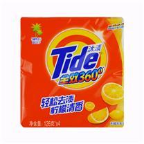汰渍 Tide 柠檬洗衣皂 126g/块 4块/组 12组/箱 (全效360度三重功效)