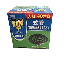 雷达 Raid 蚊香 20.5g/盘 40盘/盒 12盒/箱 (无烟大盘)(驱蚊草香型)
