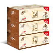 清风 Breeze 原木纯品盒装面巾纸双层 B338CN/C1/C2  200抽/盒 3盒/提 12提/箱